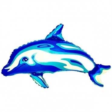 Delfin blau Figuren-Folienballon M, Form E  ArtKat  F311
