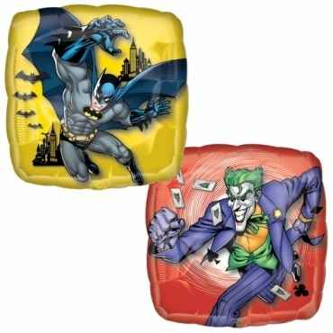 "Batman & Joker 18"", M 18inch Rund Metallic Folienballon Ø45cm, in SB-Verpackung Art.Kat. F314"