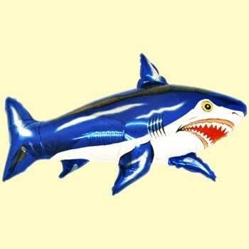 Hai blau Figuren-Folienballon, Form E  ArtKat  F311