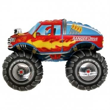 Monster Truck, Figuren-Folienballon, Form E  ArtKat  F311