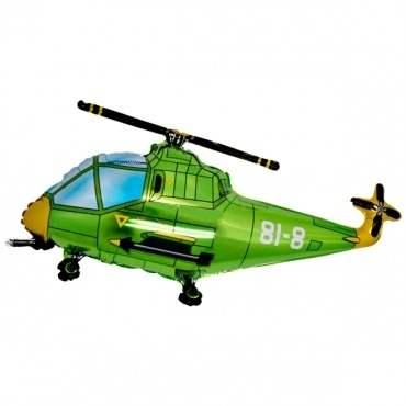 Hubschrauber grün,  Figuren-Folienballon, Form E  ArtKat  F311