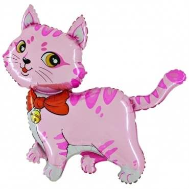 Katze pink, Figuren-Folienballon, Form E  ArtKat  F311