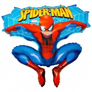 Spiderman blau, Figuren-Folienballon, Form E  ArtKat  F311