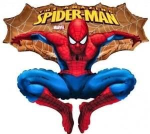 Spiderman gold, Figuren-Folienballon, Form E  ArtKat  F311
