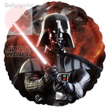 "Star Wars 18"", M 18inch Rund Metallic Folienballon Ø45cm, in SB-Verpackung Art.Kat. F314"