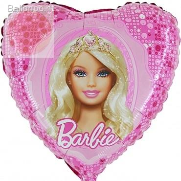 "(#) Barbie Princess 18"", M 18inch Rund Metallic Folienballon Ø45cm, in SB-Verpackung Art.Kat. F323"