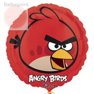 "Angry Birds rot 18"", M 18inch Metallic Folienballon Ø45cm"