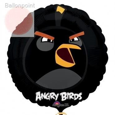 "Angry Birds schwarz 18"", M 18inch Metallic Folienballon Ø45cm"