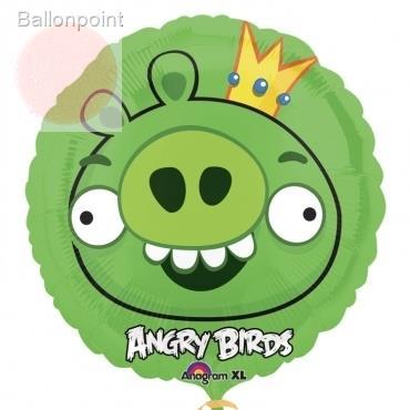 "Angry Birds King Pig 18"", M 18inch Metallic Folienballon Ø45cm"