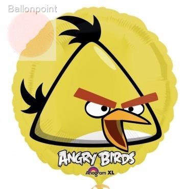 "Angry Birds gelb 18"", M 18inch Metallic Folienballon Ø45cm"