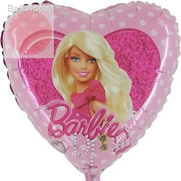 "(#) Barbie Herz 18"", M 18inch Metallic Folienballon Ø45cm"