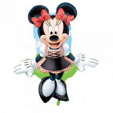 (#) Minnie Dirndl II, Shape Form II Art.Kat. F322 non Metallic Foilballoons