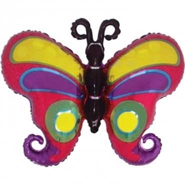 Schmetterling Kringel Holo,  Figuren-Folienballon, Form E  ArtKat  F318