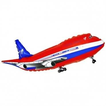 Flugzeug rot, Figuren-Folienballon, Form E  ArtKat  F311