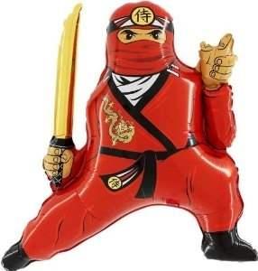 Ninja rot, Figuren-Folienballon, Form E  ArtKat  F311