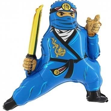 Ninja blau, Figuren-Folienballon, Form E  ArtKat  F311