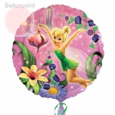 "Tinkerbell 18"", M 18inch Rund Metallic Folienballon Ø45cm, in SB-Verpackung Art.Kat. F314"