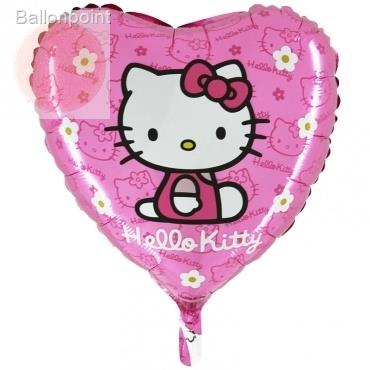 "(#) Hello Kitty Gänsebl.pi18"", M 18inch Rund Metallic Folienballon Ø45cm, in SB-Verpackung Art.Kat. F323"