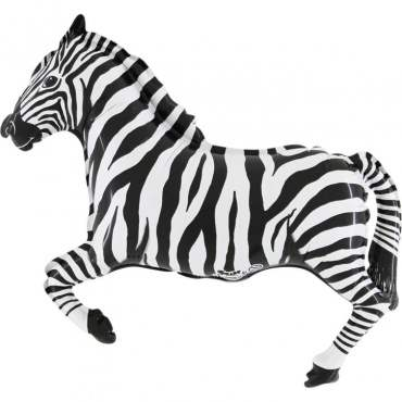 Zebra, Figuren-Folienballon M, Form E  ArtKat  F311