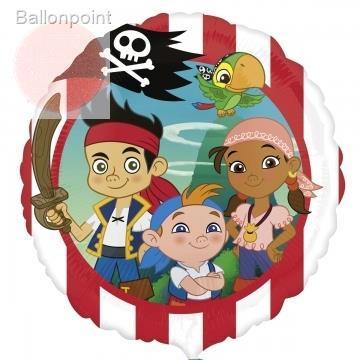 "Jake Pirat 18"", M 18inch Rund Metallic Folienballon Ø45cm, in SB-Verpackung Art.Kat. F314"
