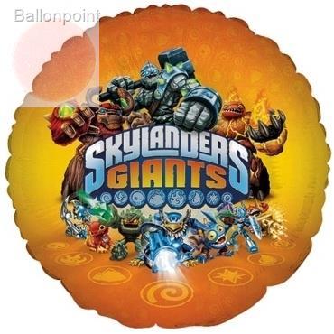 "Skylanders Giants 18"", M 18inch Rund Metallic Folienballon Ø45cm, in SB-Verpackung Art.Kat. F314"