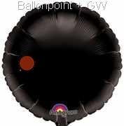 "FOBR045-062E Uni-Folienballon Ballonfarbe schwarz,  Rund Ø 45cm (18"") unaufgeblasen"