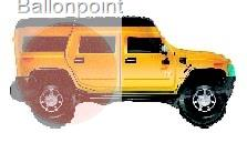 "FOBF071-661034E ""Hummer"" Foilialloon Jumbo Shape car"