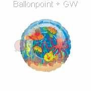 "FOBM045-61068E Motiv Sea Aquarium Folienballon Rund 45cm  (18"")"