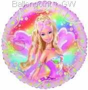FOBM045-665285E Barbie Foilballoon Fairytopia, balloon with ribbon