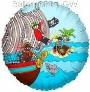 "FOBM045-665502E Folienballon Rund 45cm  (18"") F260 inkl. Faden und Selbstverschluß"