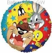 "FOBM045-665513E Folienballon Rund Ø 45cm ( 18"" ) Looney Tunes"