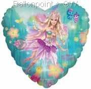 FOHM045-665529E Heart-Foilballon Barbie 45cm ( 18inch)