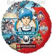 """FOBM045-5531E LEGO Exoforce Folienballon Rund 45cm  (18"""")  Ballon mit Faden"""