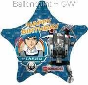 """FOSM045-665532E Lego Exoforce Stern Folienballon 45cm  (18"""")  Ballon mit Faden"""