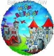 """FOBM045-5533E Playmobil Folienballon Rund 45cm  (18"""")  Ballon mit Faden"""