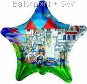"FOSM045-665534E Playmobil Stern Folienballon 45cm  (18"")  Ballon mit Faden"