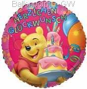 "FOBM045-5536E Rund-Folienballon ~45cm 18"" Winnie Pooh"