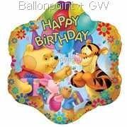 """FOBM045-665541E  Folienballon Rund 45cm  (18"""")"""