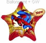 "FOSM045-665858E Spider-Man Metallic foil balloon, printed on 2 sides, 45cm(18"") (Kategorie F260)"