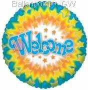 "FOBM045-660662 Folienballon Round 45cm  (18"") Motiv Star,  price per ea"