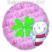 "FOBM045-66773E  Be Happy Folienballon 45cm  (18""), Steinbeck Ballon"