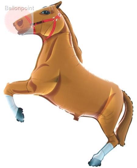 """FOBF080-2080848Q Pferd 80cm(32"""") braun, Folienballon ohne Metallbeschichtung"""