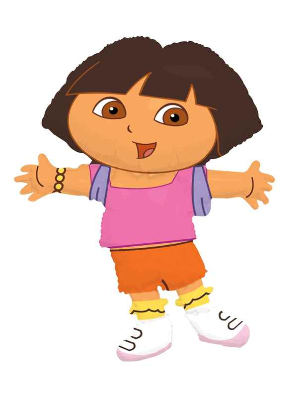 FOBF081-09269E-SB Dora the Explorer, Lizenz Figuren-Folienballon Suppershape