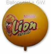 WR500PVC-02 Gaint Indoor/Outdoor PVC-Folien Riesenballon Ø~500cm <br> Werbefläche ~L390 x H250cm