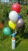 BG-03-V Ballongas 3L Flasche, 0,5 m3 Helium (GA342), Ballongas