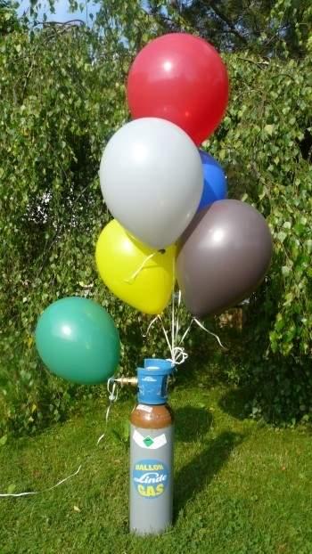 BG-05 Ballongas 5 L Flasche, 0,9 m3 Helium(GA342), 900 l UN 1956 Verdichtetes Gas (Helium, Luft)