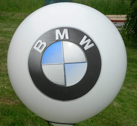 MR225-109-22H-G Ø~80cm emblem printed on two site, Balloons white