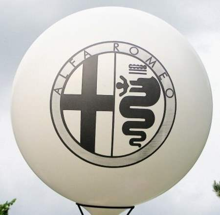 MR225-109-21H-G-PEUGEOT Ø~80cm emblem printed on two site, Balloons white