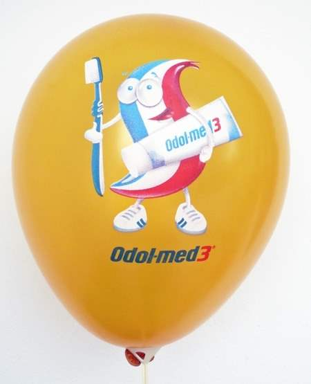 WR085-1CMYK+1 ~Ø28cm 1seitig mit im CMYK verfahren, individuell bedruckter - Perfekt-Druck - Ballon