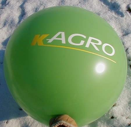 R350-42-W 4seitig individuell bedruckter Riesenballon Ø~120cm